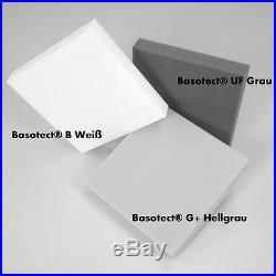 16x Akustik Schaumstoff Schall Lärm Dämmung 50x50x5 aus Basotect G+ Hellgrau