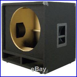 1X18 Bass Speaker Empty Cabinet Black Carpet PA, DJ, Live Music, Theater Sub