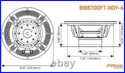 1x PRV Audio 8MB700FT-NDY-4 8 Mid Bass Neodymium Speaker 700W Forte Serie 4 Ohm