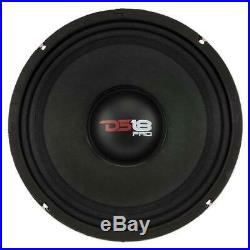 2 DS18 PRO-X10M 10 Midrange Speaker 1200 Watt 8 Ohm Car Midbass Loudspeaker
