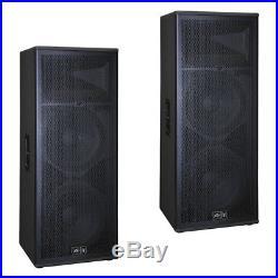 (2) Peavey SP 4 Pro Audio DJ Passive 4000W Dual 15 3-Way PA Speaker Package New