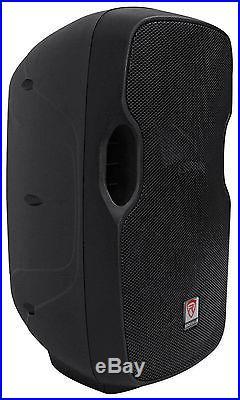 (2) Rockville BPA10 10 Professional Powered 400 Watt DJ PA Speakers withBluetooth