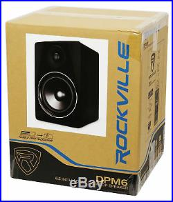 (2) Rockville DPM6B Dual Powered 6.5 420 Watt Active Studio Monitor Speakers