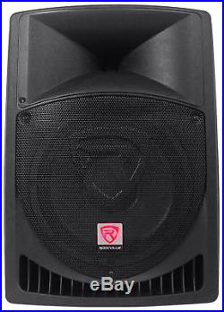 (2) Rockville RPG12 12 Powered PA Speakers+Active 15 Subwoofer+Stands+Cables