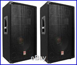 (2) Rockville RSG12.4 12 3-Way 1000 Watt 4-Ohm Passive DJ/Pro Audio PA Speakers