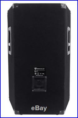 (2) Rockville RSG15 15 3-Way 1500 Watt 8-Ohm Passive DJ/Pro Audio PA Speaker