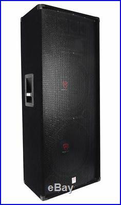 (2) Rockville RSG15.24 Dual 15 3000 Watt 3-Way 4-Ohm Passive DJ / PA Speaker