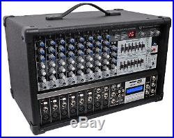 2 Rockville RSG15.24 Dual 15 3000w 3-Way DJ/Pro PA Speakers+Powered Mixer withUSB