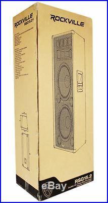 (2) Rockville RSG15.24 Dual 15 PA Speakers + Rockville RPA9 Power Amplifier Amp