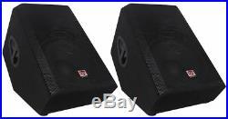 (2) Rockville RSM15A 15 2-Way Powered Active Floor Monitor Speakers 2800 Watts