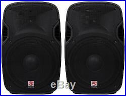 (2) Rockville SPGN158 15 Passive 1600W DJ PA Speakers Lightweight Cabinet 8 Ohm