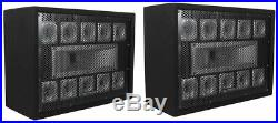 (2) Technical Pro TW110 1000 Watt Carpeted 11-Way DJ Tweeter Box Array System