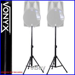 2x 15 Inch Speakers PA Amplifier Stands DJ Disco Party System Amp 1600W