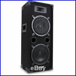 2x Max MAX 2 x 8 Speakers Bedroom DJ Disco PA Party 1600W Set Mega Bass Kit