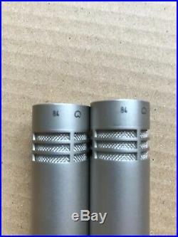 2x NEUMANN KM84 Kondensator Mikrofon Niere Klein Tuchel