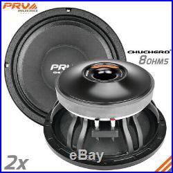 2x PRV Audio 10CHUCHERO Mid Range 10 Chuchero Speaker 8 ohm RD PRO 1400W