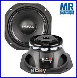 2x PRV Audio 6MR500-NDY-4 Mid Range Neodymium 6.5 Speaker 4 ohm 6 PRO Neo 1000W