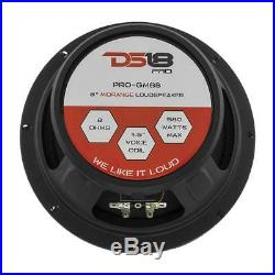 4 DS18 PRO-GM8B 8 Midrange Speaker 2320 Watt 8 ohm Midbass Bullet Loudspeaker