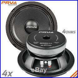4x PRV Audio 6MB200-4 Mid Bass Car Stereo 6.5 Speaker 4 ohm 6MB PRO 800 Watts