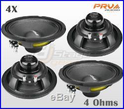 4x PRV Audio 6MB250-NDY-4 Mid Bass Neodymium 6.5 Speaker 4 ohm 6 PRO Neo 1000W
