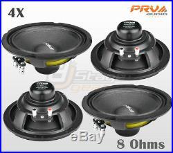 4x PRV Audio 6MB250-NDY Mid Bass Neodymium 6.5 Speaker 8 ohm 6MB PRO Neo 1000W