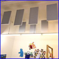 4x Tonstudio Schall Akustik Absorber Dämmung 100x50x10 aus Basotect G+ Hellgrau