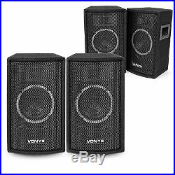 4x Vonyx 6 Inch Passive PA Speakers Party Disco Stage DJ Sound Package 600W