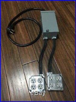 50 Amp Nema Plug Stage Distro 4-120v20a Circuits