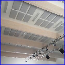 6x Schall Lärm Dämmung Raum Akustik Absorber 100x50x7 aus Basotect G+ Hellgrau