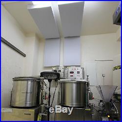 8 Akustik Schall Absorber Platte Lärm Dämmung 100x50x5 aus Basotect G+ Hellgrau