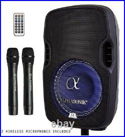 Alphasonik 8 Portable Rechargeable Battery Powered 800W Pro Amplified Speaker