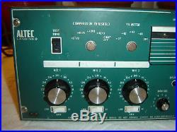 Altec Lansing 1607A, Mixer Power Amplifier, Vintage Rack, Repair, As Is