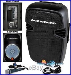 Audiobahn Torq 15 Powered 2600w Pro Dj Bluetooth Usb Pa Led Speaker Karaoke MIC