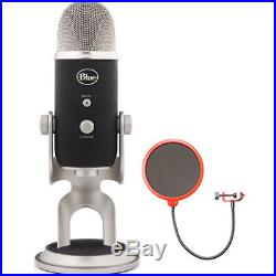 BLUE MICROPHONES Yeti Pro USB Condenser Microphone, Multipattern with Wind Screen