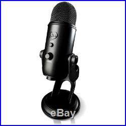 BLUE MICROPHONES Yeti Professional USB Desk Microphone (Blackout) BLACKOUTYETI