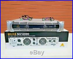 Behringer NU12000 iNUKE 12000W Power Amplifier 3 YEAR(2) 4ft XLR Cable (ONE)