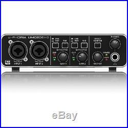 Behringer U-PHORIA UMC202HD USB Audio Home Studio Vocal Recording Interface