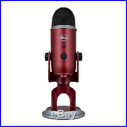 Blue Microphones Yeti Professional Multi-Pattern USB Microphone, Crimson Red