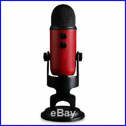 Blue Microphones Yeti Professional Multi-Pattern USB Microphone (Satin Red)
