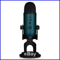 Blue Microphones Yeti Teal USB Microphone with Knox Studio Arm and Pop Filter