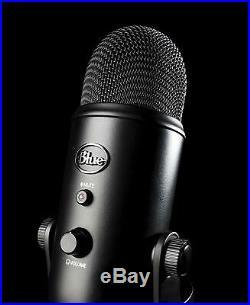 Blue Yeti USB Microphone Streaming & Recording Mac/PC (Pro Mic) Blackout Edition