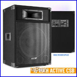 CSB 15 Active DJ Speaker PA Sound System and Built-in 800w High Power Mixer Amp