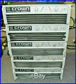 Crown Macro-tech Ma5002vz Power Amplifier (one)