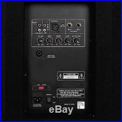 DJ Speakers PA Active 2x 15 Inch Powered Monitor Disco Stage Mic Input 3000W Set