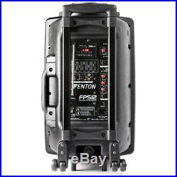 Fenton FPS12 Portable Bluetooth PA Speaker System Aerobics Busking Battery Power
