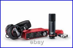 Focusrite SCARLETT 2I2 STUDIO 3rd Gen Audio Interface+Mic+Headphones+Boom Stand