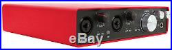 Focusrite SCARLETT 6I6 2ndGen USB Audio Recording Interface+Condenser Mic+Shield