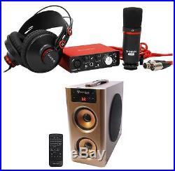 Focusrite SCARLETT SOLO STUDIO 2.0 Audio Interface+Mic+Headphones+Free Speaker