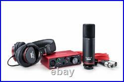 Focusrite SCARLETT SOLO STUDIO 3rd Gen 192KHz USB Audio Interface+Mic+Headphones