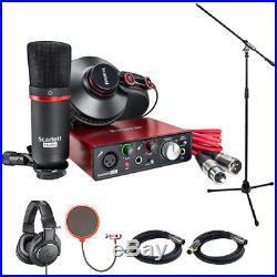 Focusrite Scarlett Solo Studio Pack 2nd Gen & Record Bundle with Headphone Bundle